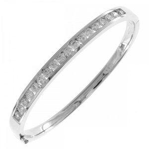 Round Cut 3.60 Carats Diamonds White Gold 14K Ladi